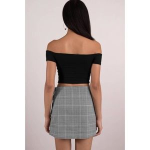 Skirts - Plaid Wrap Mini Skirt